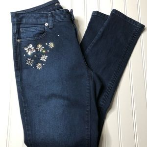 MICHAEL Michael Kors Izzy Skinny Jeans with jewels